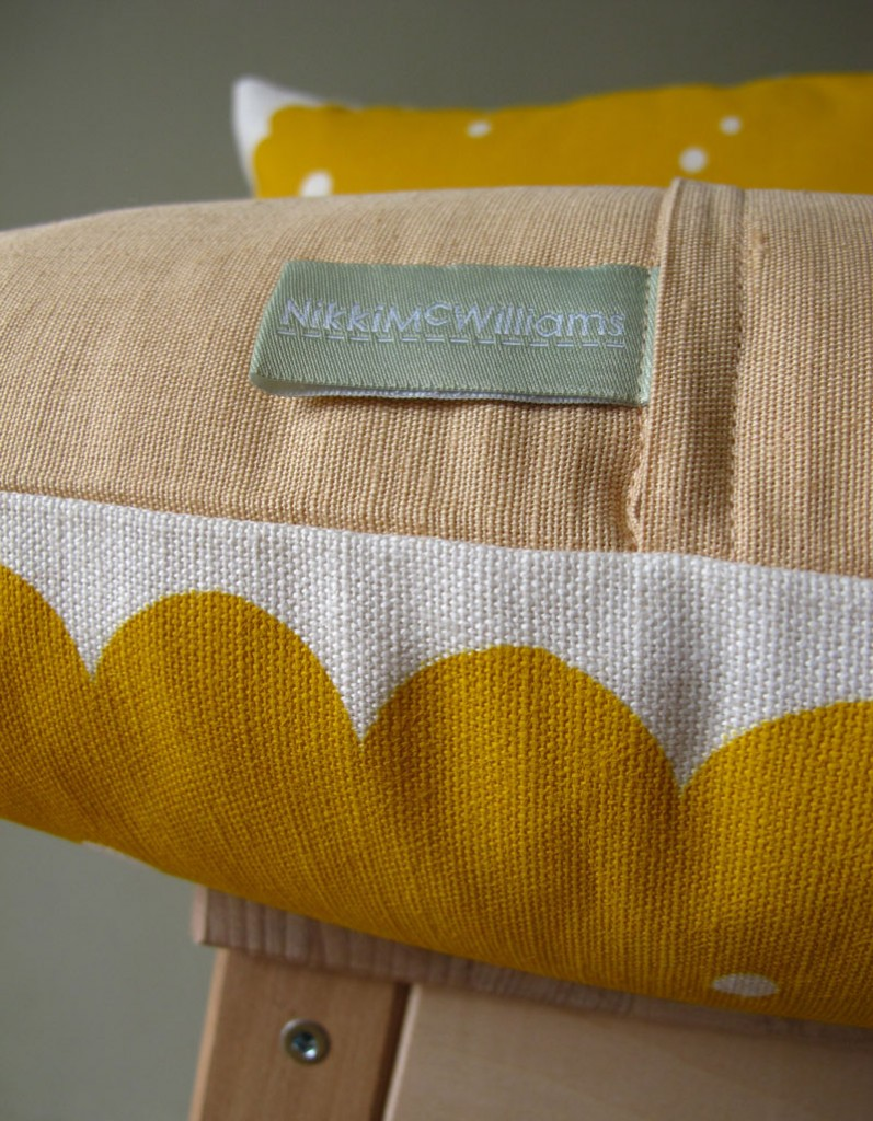 Nice Biscuit Cushion - Made in Scotland by Nikki McWilliams