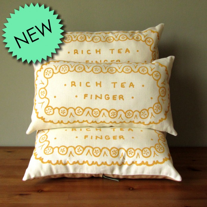 New: Rich Tea Finger Cushions