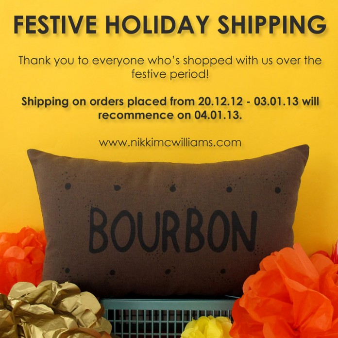 Festive Holiday Shipping 2012