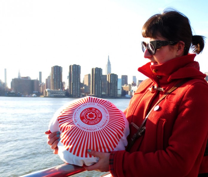 Nikki McWilliams - Tunnocks Teacake Cushions in New York!