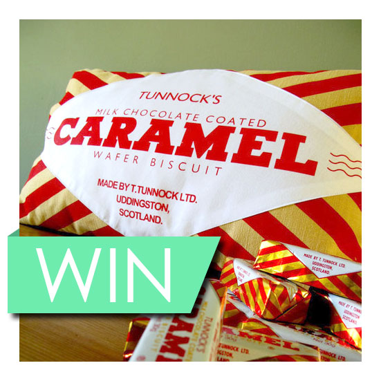 Caramel Wafer Cushion Prize Draw