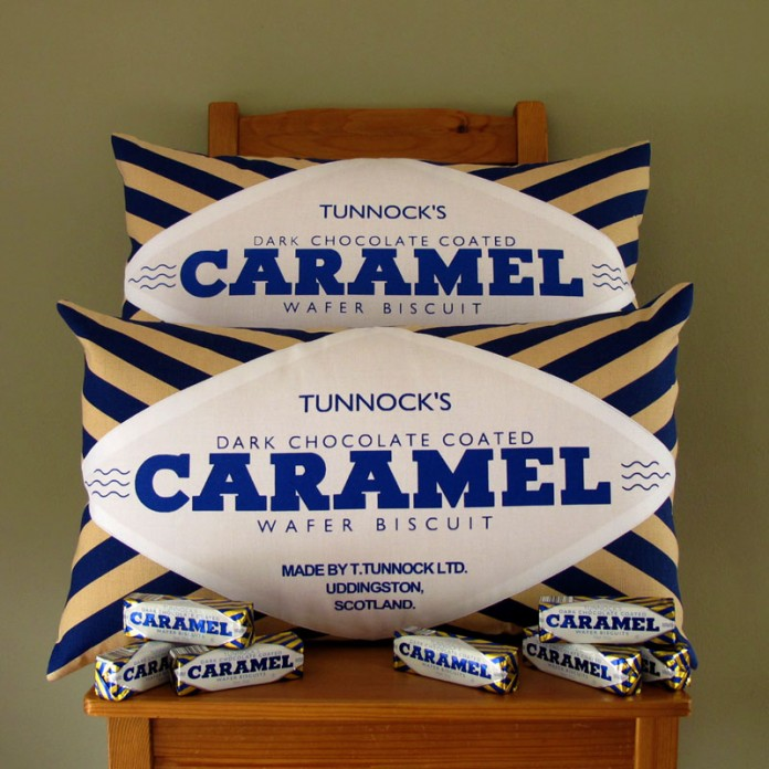 New: Tunnock's Dark Chocolate Caramel Wafer Cushions