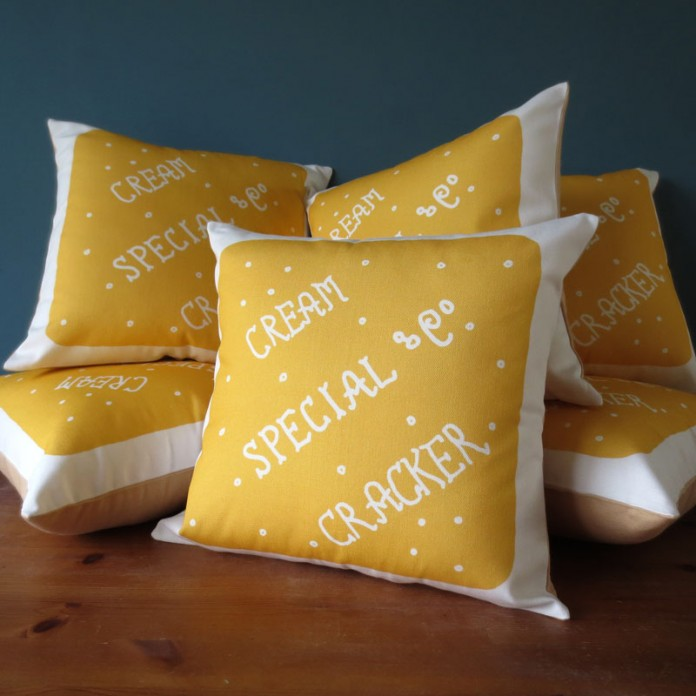 Nikki McWilliams - Cream Cracker Cushions