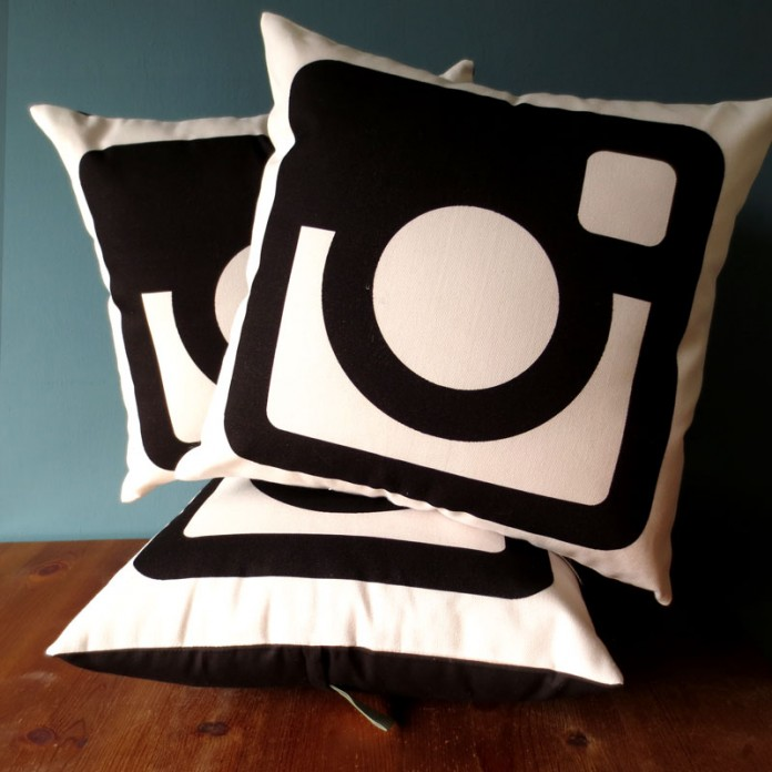 Nikki McWilliams - Monotone Instagram Logo Cushion 2014