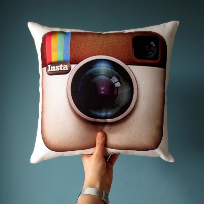 Nikki McWilliams -Instagram Logo Cushion 2014