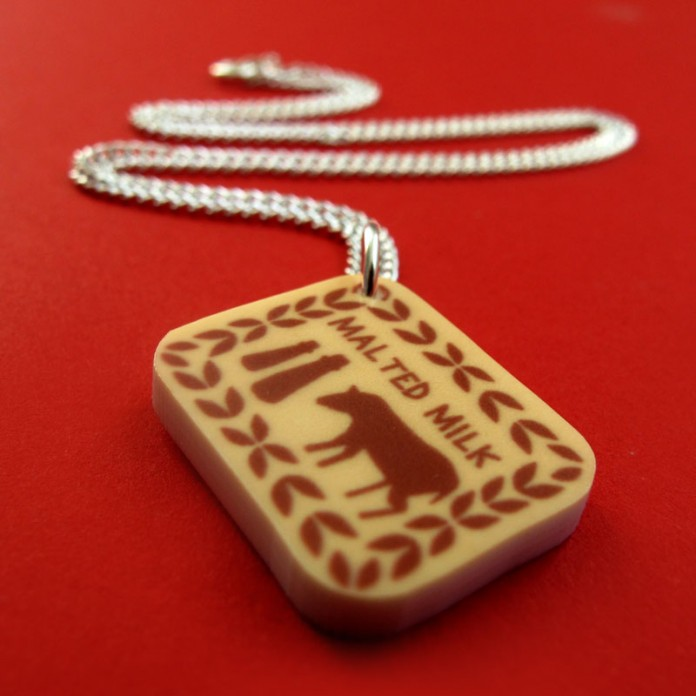 Malted Milk Biscuit Mini-Charm Necklace by Nikki McWIilliams