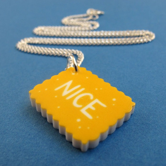Nice Biscuit Mini-Charm Necklace by Nikki McWIilliams