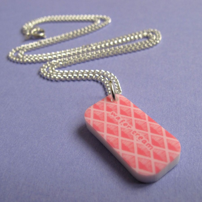 Pink Wafer Mini-Charm Necklace by Nikki McWIilliams