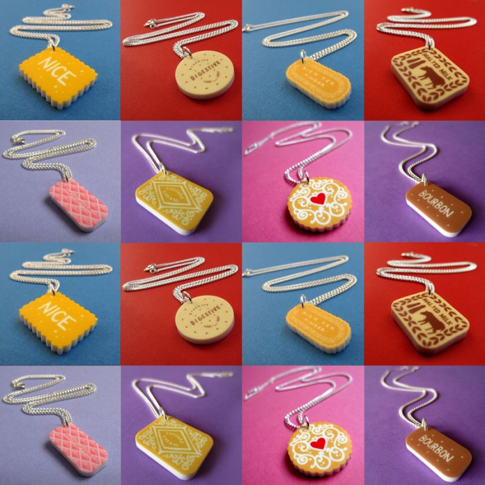 Biscuit Mini Charm Necklaces by Nikki McWilliams