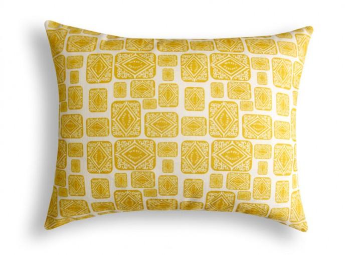 Custard Cream Printed Cushion by Nikki McWilliams