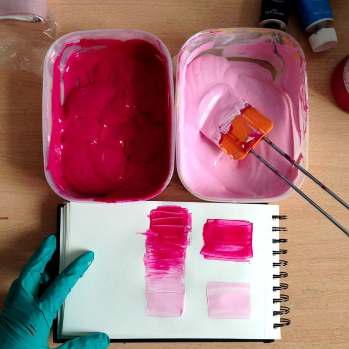 Nikki McWilliams - Screen Printing in Pink