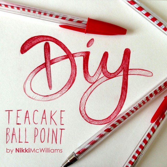Nikki McWilliams - DIY Teacake Foil Ballpoint Pens