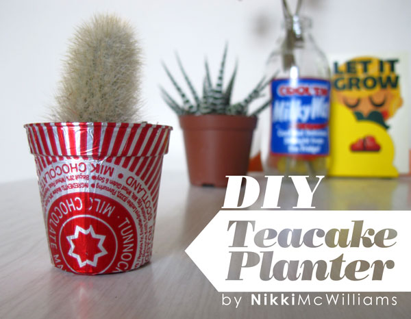 DIY Tunnocks Teacake Foil Planter - by Nikki McWilliams