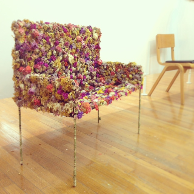 Floral Bench