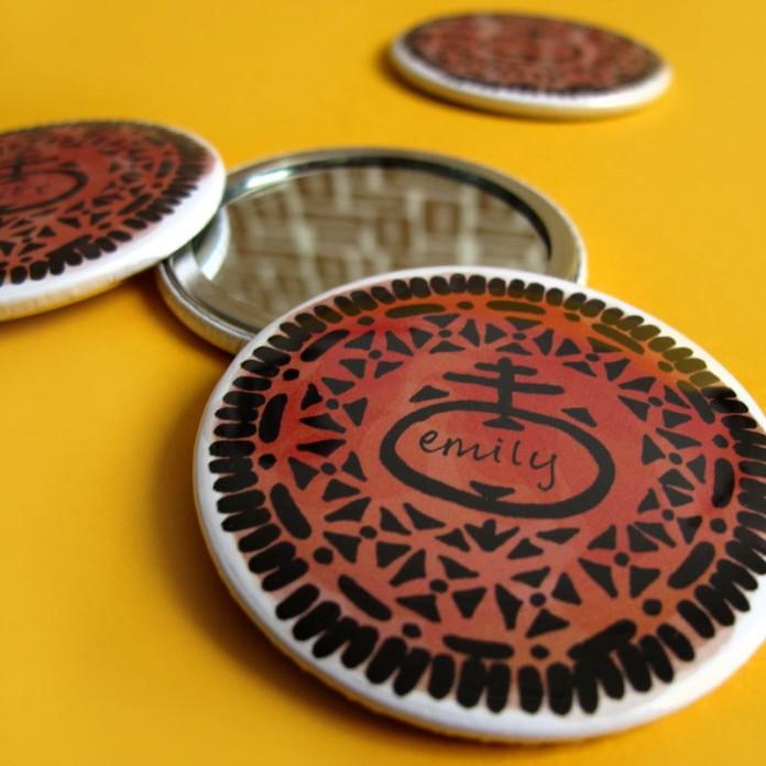 Nikki McWilliams - Personalised Cookie Pocket Mirrors