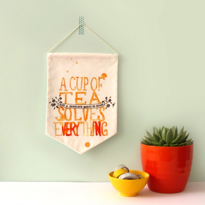 A Cup of Tea Solves Everything Banner - by Nikki McWilliams