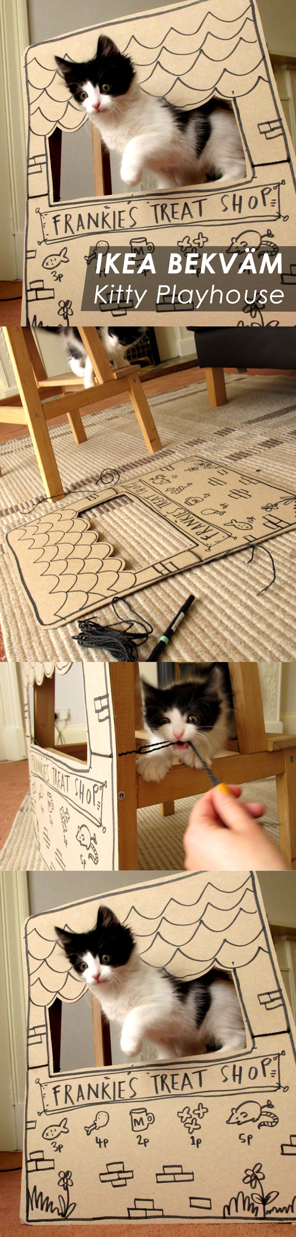 IKEA Bekvam Kitty Playhouse DIY by Nikki McWilliams