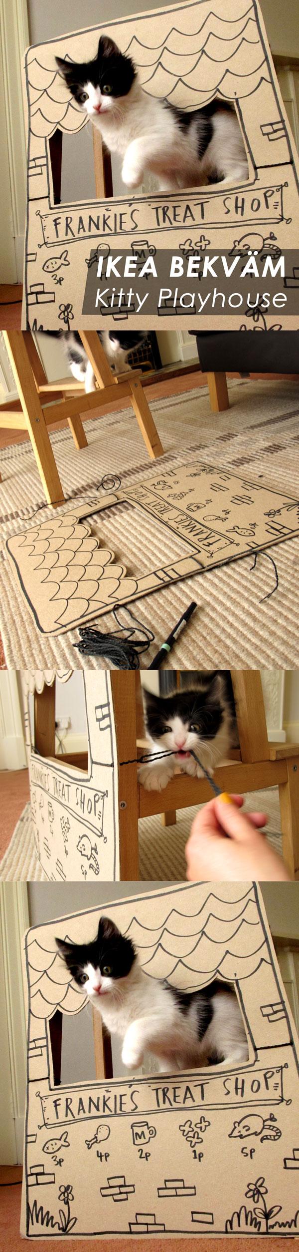 IKEA Bekvam Kitty Playhouse DIY by Nikki McWilliams