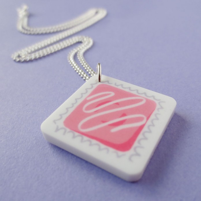 Nikki McWilliams - Fondant Fancy Necklace in Pink