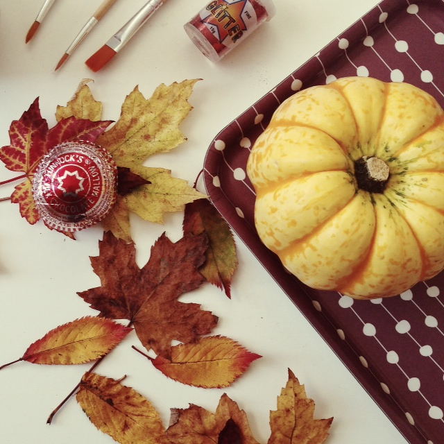 Glitter Tunnocks Teacake Pumpkin by Nikki McWilliams