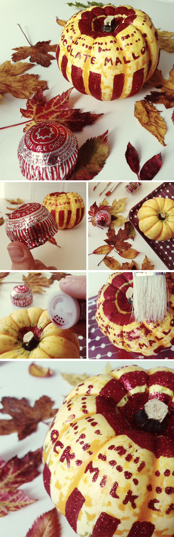 DIY Glitter Tunnocks Teacake Pumpkins by Nikki McWilliams