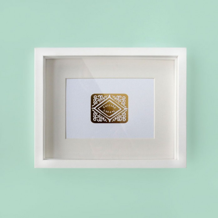 NEW: Golden Custard Cream Foil Prints
