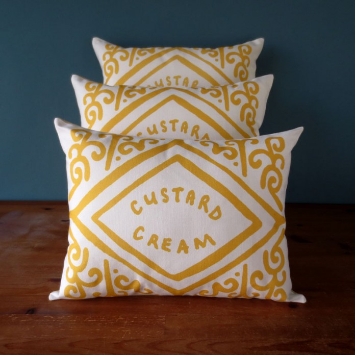 Zoella's New Home: Custard Cream Cushion