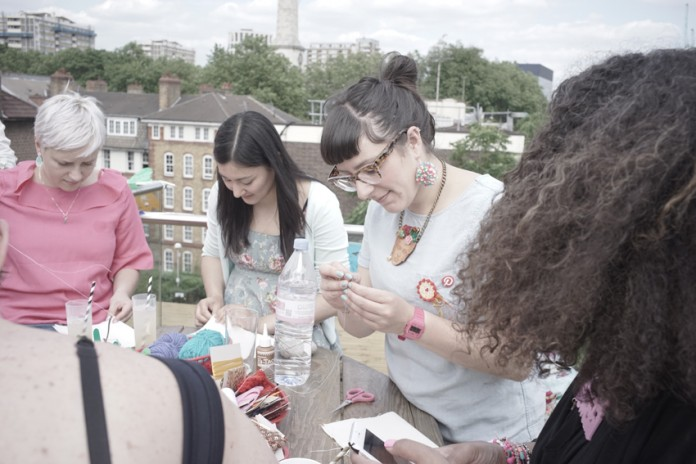 Crafting up a fiesta at Pinterest UK's 2nd Birthday party