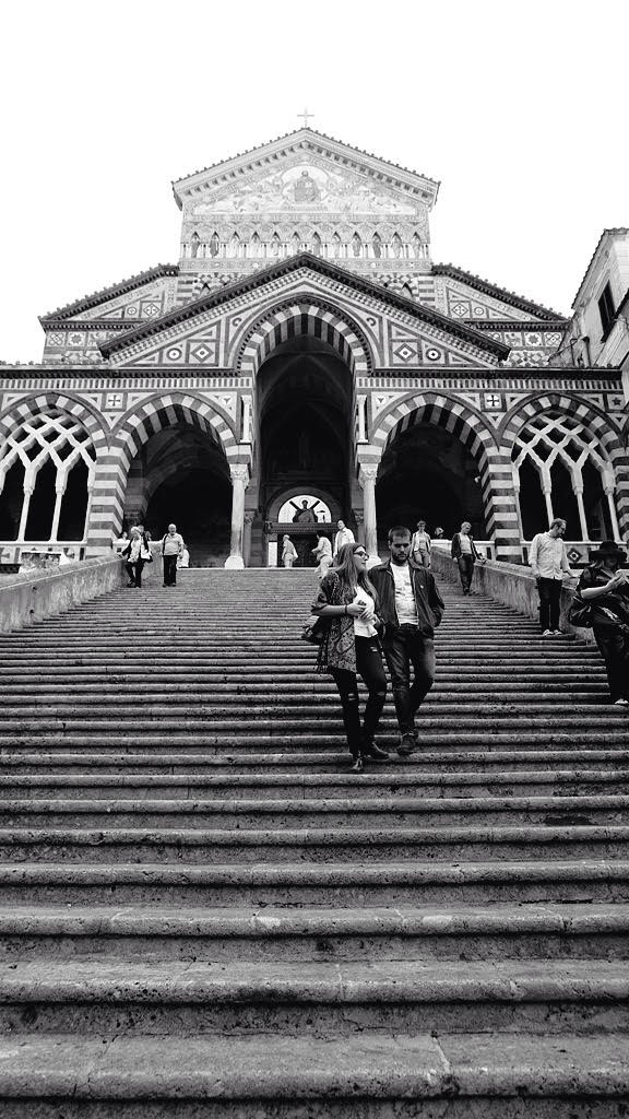 Amalfi's Monochrome Cathedral