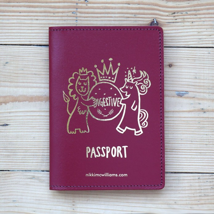 Leather Biscuit Passport Cover by Nikki McWilliams