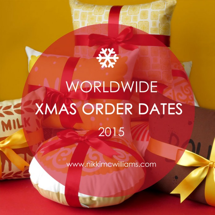 Nikki McWilliams Last Order Dates 2015