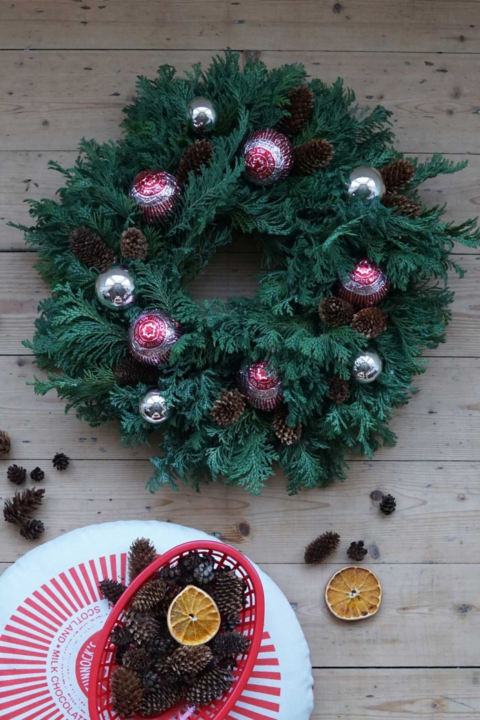DIY Tunnocks Teacake Festive Wreath