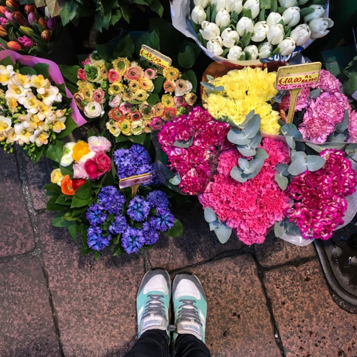 Bright Blooms at the Flower Market in Bologna