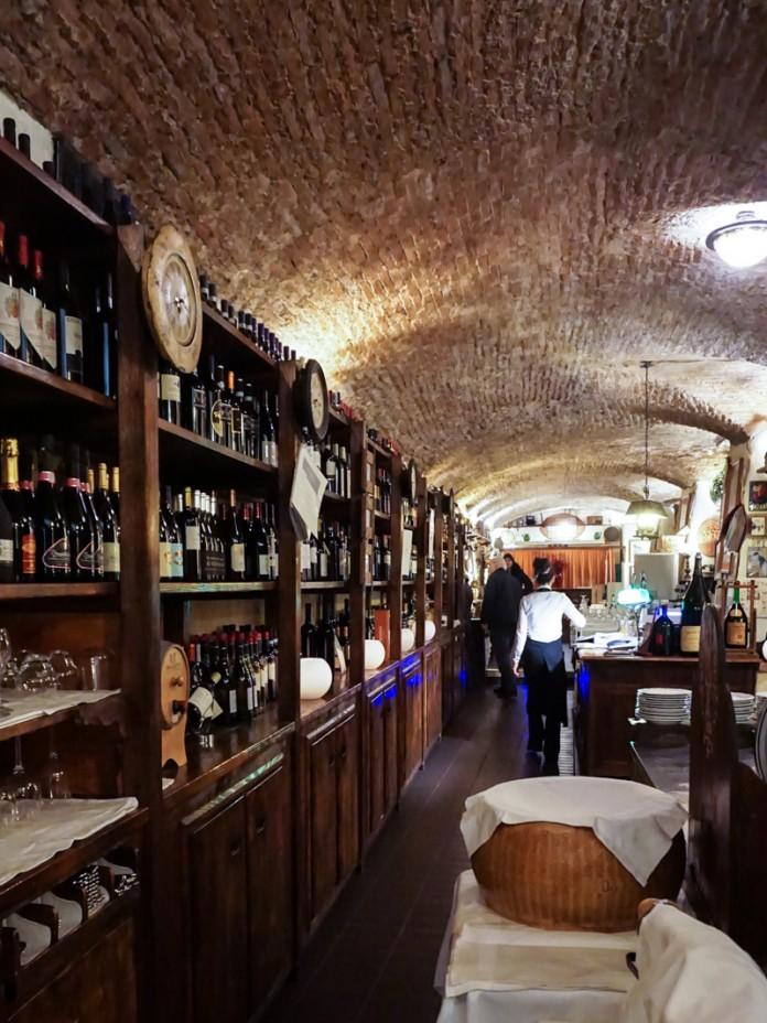 Inside Osteria de'Poetia, Bologna, Italy
