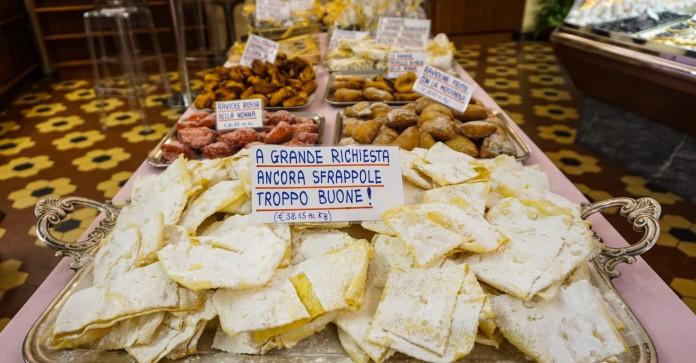 Sweet pasta at Paolo Atti & Figli, Bologna