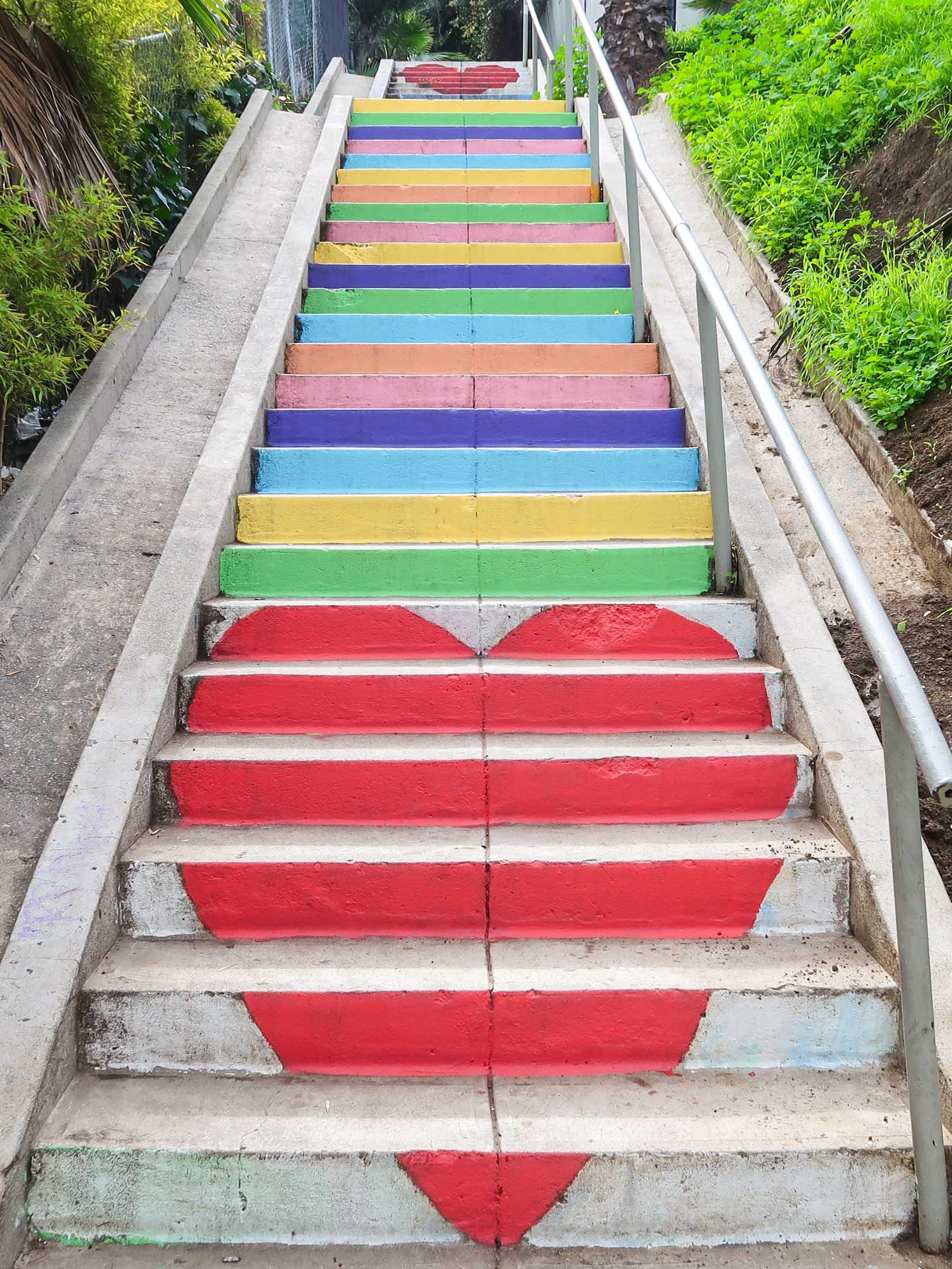 Love Heart Rainbow Steps - Silverlake Los Angeles