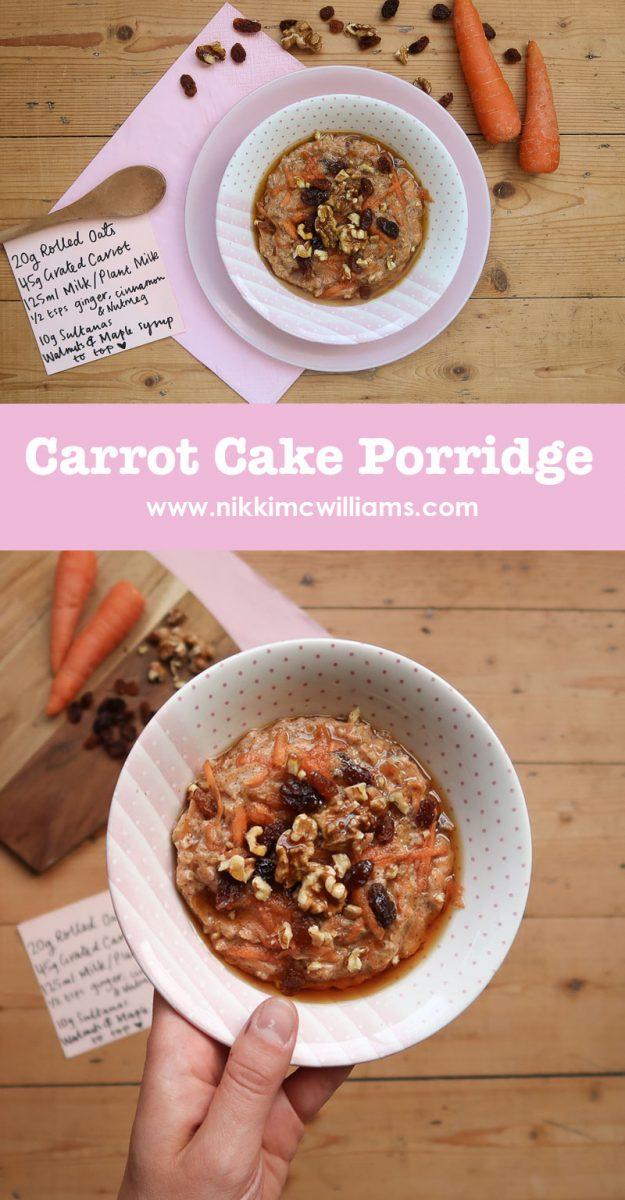 Carrot Cake Porridge Recipe by Nikki McWilliams