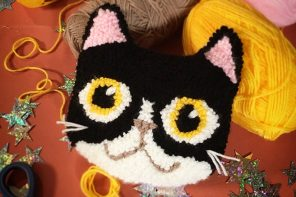 Nikki McWilliams Punch Needle Cat Cushion